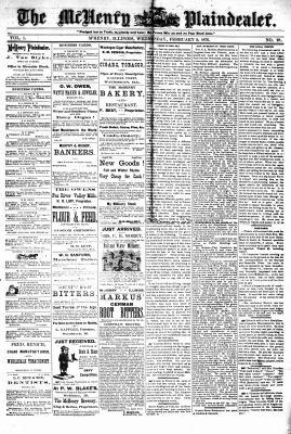 McHenry Plaindealer (McHenry, IL), 9 Feb 1876
