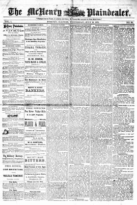 McHenry Plaindealer (McHenry, IL), 19 Jul 1876