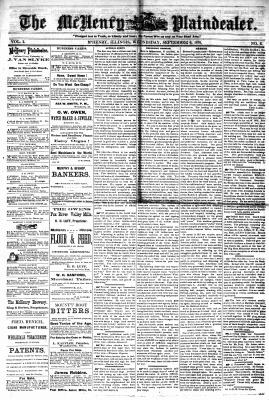 McHenry Plaindealer (McHenry, IL), 6 Sep 1876