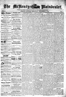 McHenry Plaindealer (McHenry, IL), 13 Sep 1876