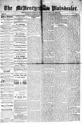 McHenry Plaindealer (McHenry, IL), 20 Sep 1876
