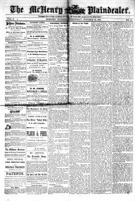 McHenry Plaindealer (McHenry, IL), 18 Oct 1876