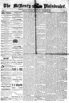 McHenry Plaindealer (McHenry, IL), 25 Oct 1876