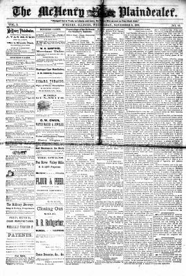 McHenry Plaindealer (McHenry, IL), 8 Nov 1876