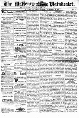 McHenry Plaindealer (McHenry, IL), 29 Nov 1876