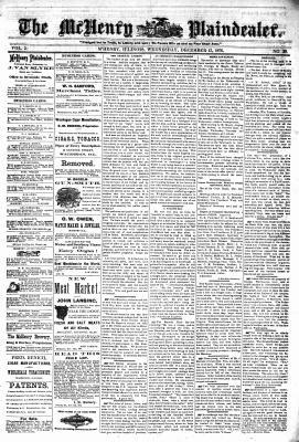 McHenry Plaindealer (McHenry, IL), 13 Dec 1876