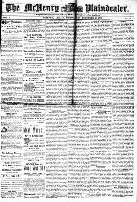 McHenry Plaindealer (McHenry, IL), 20 Dec 1876