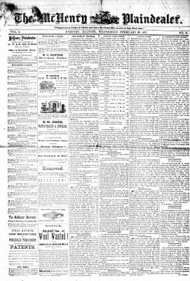 McHenry Plaindealer (McHenry, IL), 28 Feb 1877