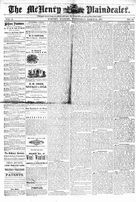 McHenry Plaindealer (McHenry, IL), 21 Mar 1877