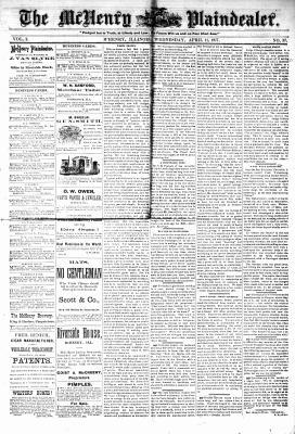 McHenry Plaindealer (McHenry, IL), 11 Apr 1877