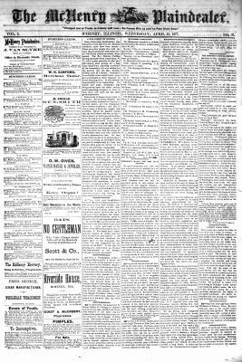 McHenry Plaindealer (McHenry, IL), 25 Apr 1877
