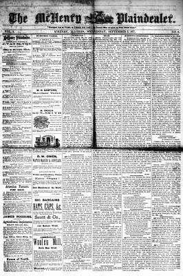 McHenry Plaindealer (McHenry, IL), 5 Sep 1877