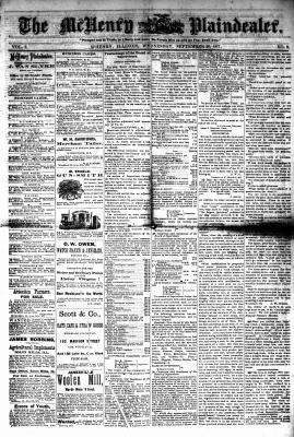 McHenry Plaindealer (McHenry, IL), 26 Sep 1877