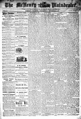 McHenry Plaindealer (McHenry, IL), 31 Oct 1877