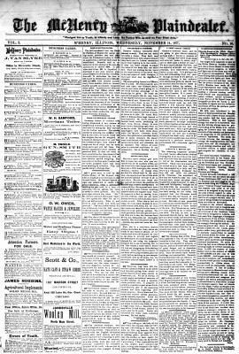 McHenry Plaindealer (McHenry, IL), 14 Nov 1877
