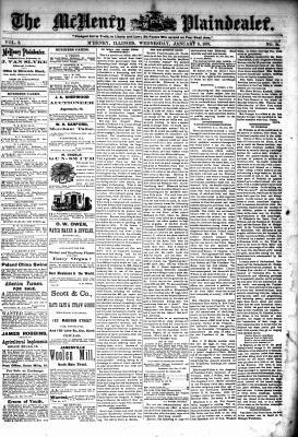 McHenry Plaindealer (McHenry, IL), 9 Jan 1878