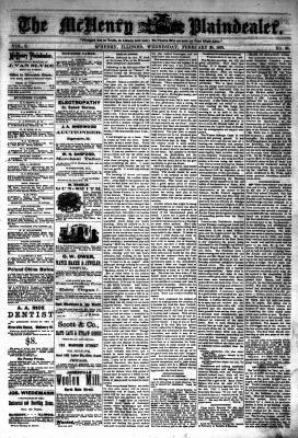 McHenry Plaindealer (McHenry, IL), 20 Feb 1878