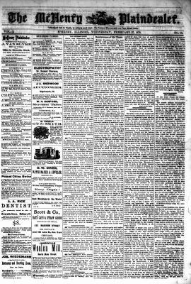 McHenry Plaindealer (McHenry, IL), 27 Feb 1878