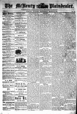 McHenry Plaindealer (McHenry, IL), 20 Mar 1878