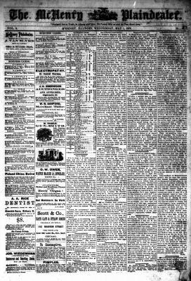 McHenry Plaindealer (McHenry, IL), 1 May 1878
