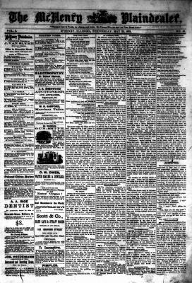 McHenry Plaindealer (McHenry, IL), 22 May 1878