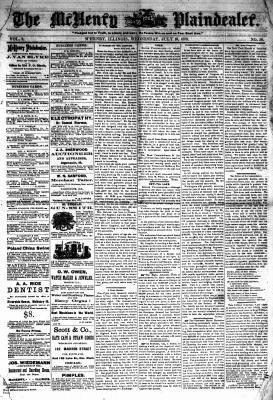 McHenry Plaindealer (McHenry, IL), 10 Jul 1878