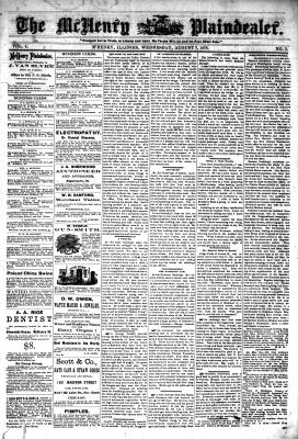 McHenry Plaindealer (McHenry, IL), 7 Aug 1878