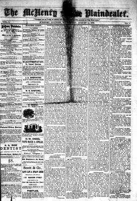 McHenry Plaindealer (McHenry, IL), 14 Aug 1878