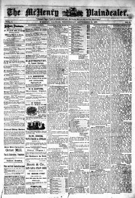 McHenry Plaindealer (McHenry, IL), 25 Sep 1878