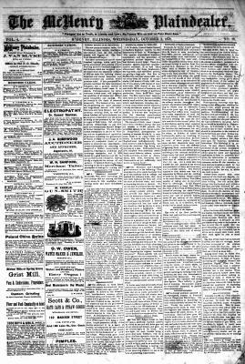McHenry Plaindealer (McHenry, IL), 2 Oct 1878