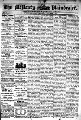 McHenry Plaindealer (McHenry, IL), 9 Oct 1878