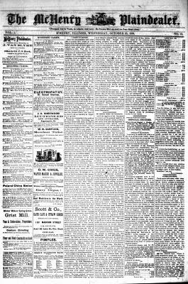 McHenry Plaindealer (McHenry, IL), 23 Oct 1878