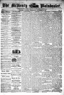 McHenry Plaindealer (McHenry, IL), 13 Nov 1878