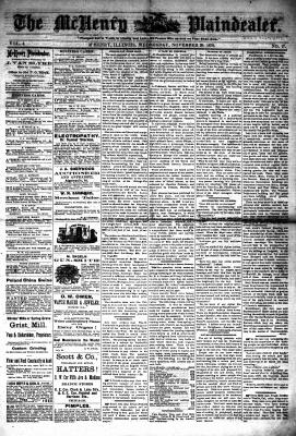 McHenry Plaindealer (McHenry, IL), 20 Nov 1878