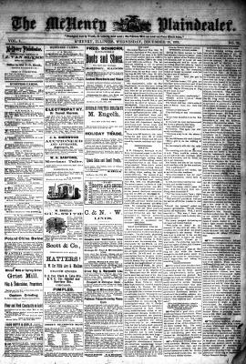 McHenry Plaindealer (McHenry, IL), 18 Dec 1878