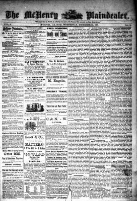 McHenry Plaindealer (McHenry, IL), 25 Dec 1878