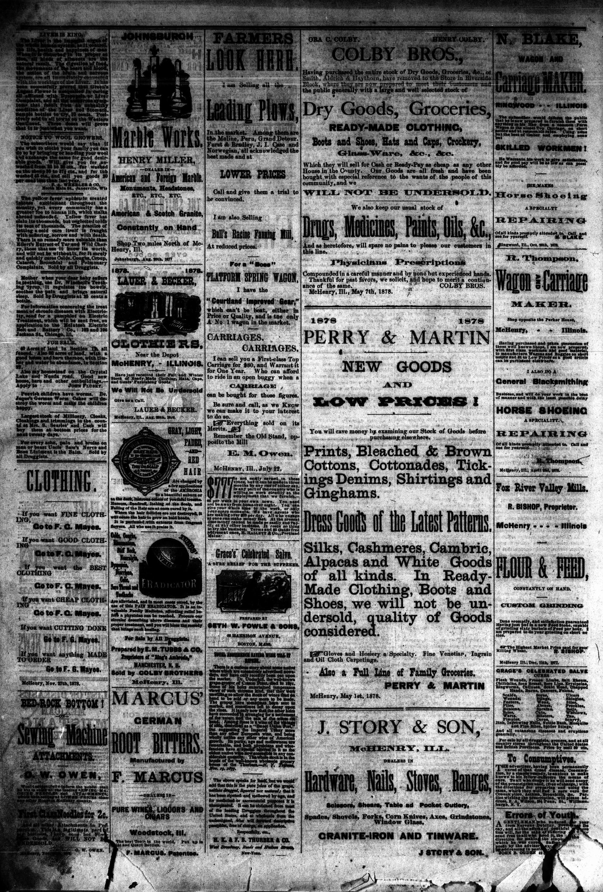 McHenry Plaindealer (McHenry, IL), 29 Jan 1879