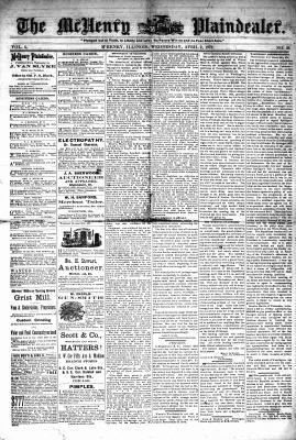 McHenry Plaindealer (McHenry, IL), 2 Apr 1879