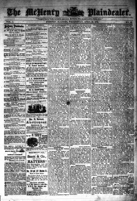 McHenry Plaindealer (McHenry, IL), 30 Apr 1879