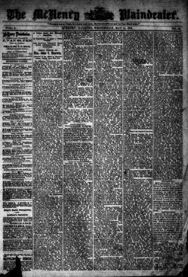 McHenry Plaindealer (McHenry, IL), 14 May 1879