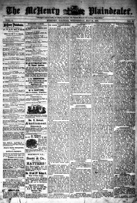 McHenry Plaindealer (McHenry, IL), 21 May 1879