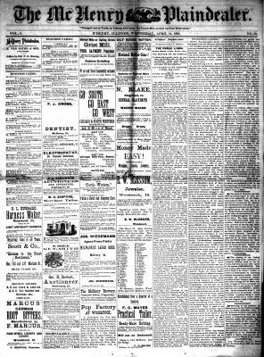 McHenry Plaindealer (McHenry, IL), 14 Apr 1880
