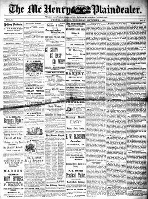 McHenry Plaindealer (McHenry, IL), 1 Sep 1880