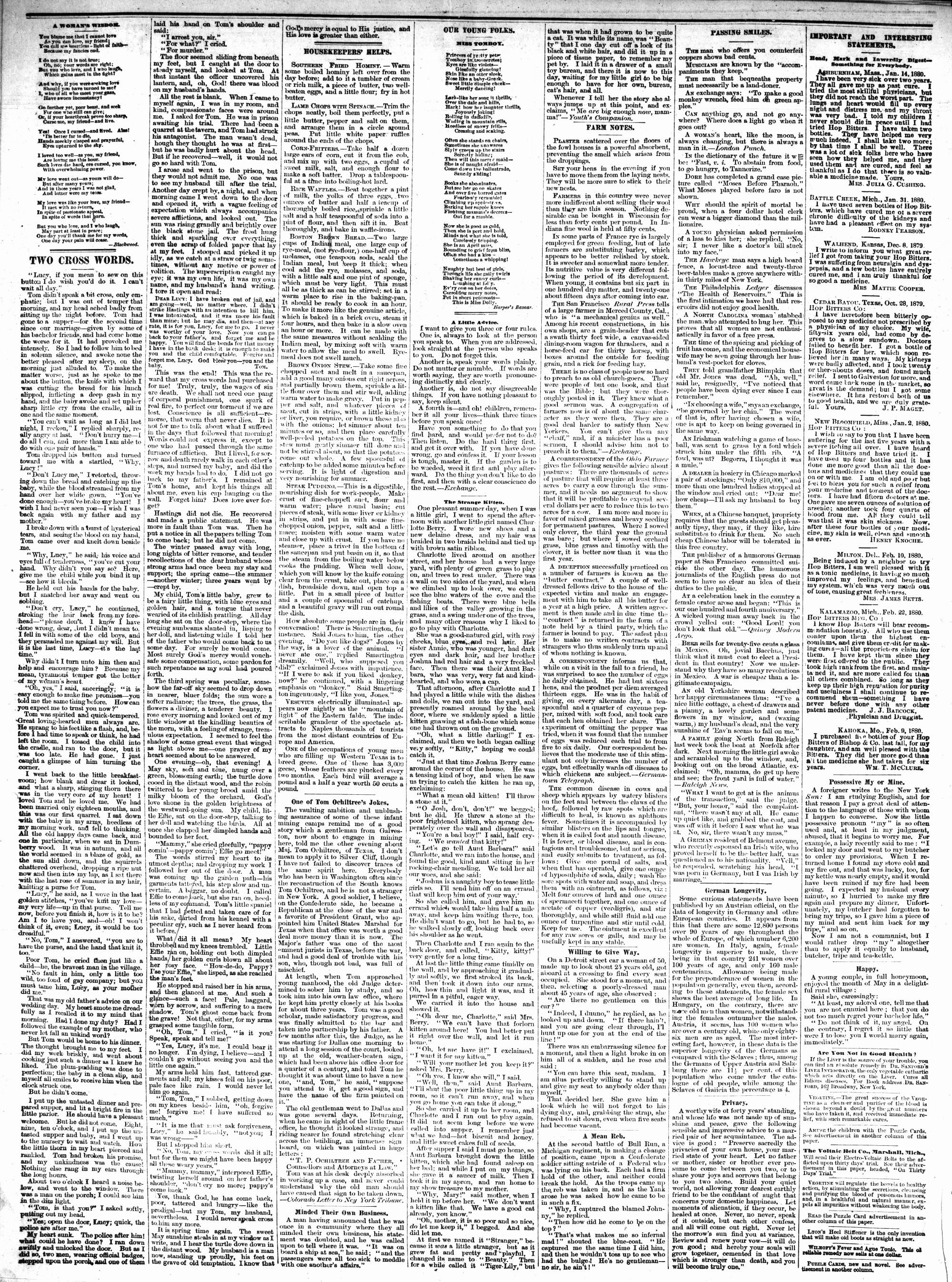 McHenry Plaindealer (McHenry, IL), 8 Sep 1880