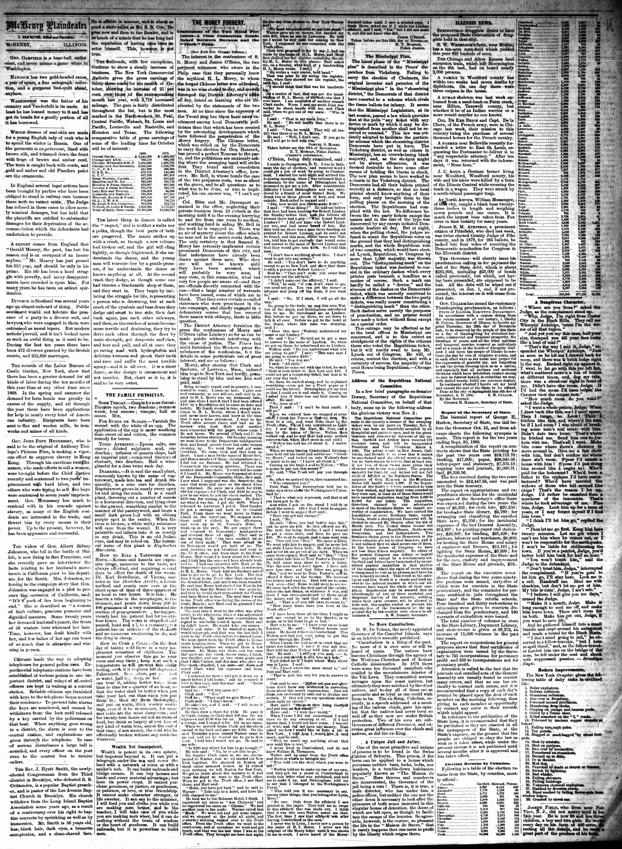 McHenry Plaindealer (McHenry, IL), 17 Nov 1880