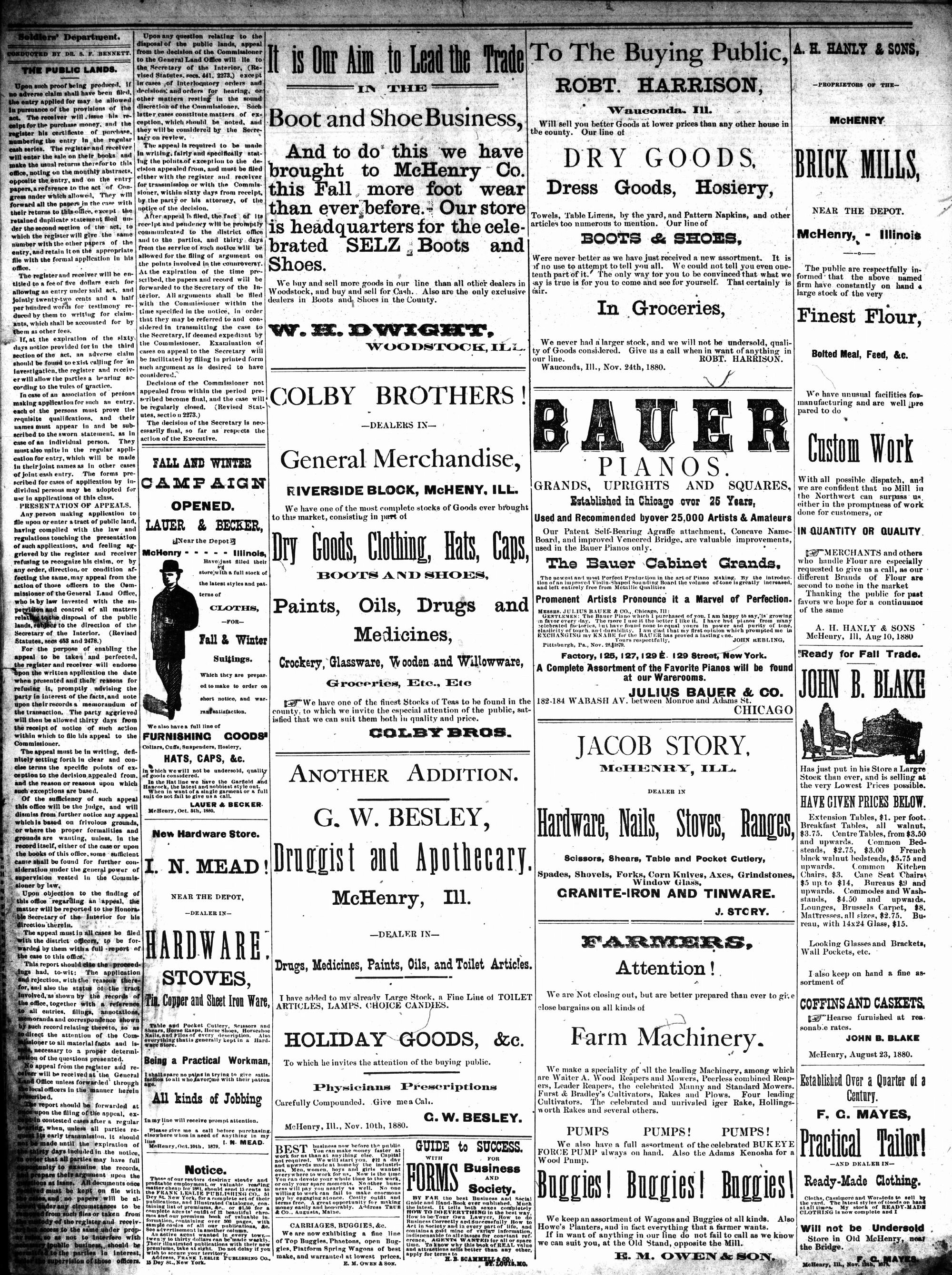 McHenry Plaindealer (McHenry, IL), 8 Dec 1880