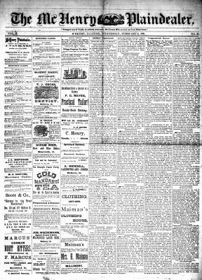 McHenry Plaindealer (McHenry, IL), 2 Feb 1881