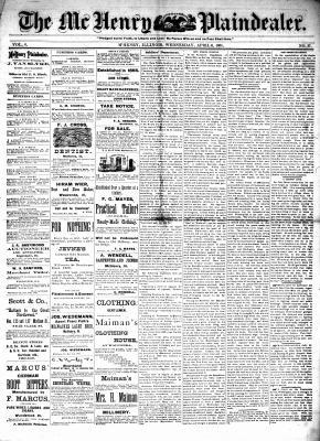 McHenry Plaindealer (McHenry, IL), 6 Apr 1881