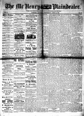 McHenry Plaindealer (McHenry, IL), 13 Apr 1881