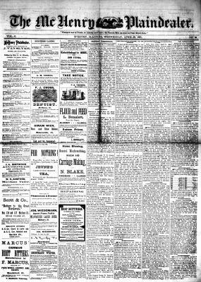 McHenry Plaindealer (McHenry, IL), 20 Apr 1881
